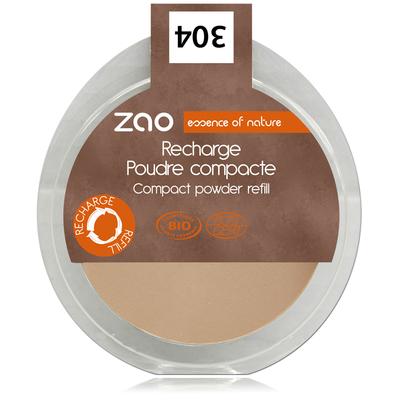 ZAO MAKE UP - Poudre Compacte - 304 CAPUCCINO. Recharge
