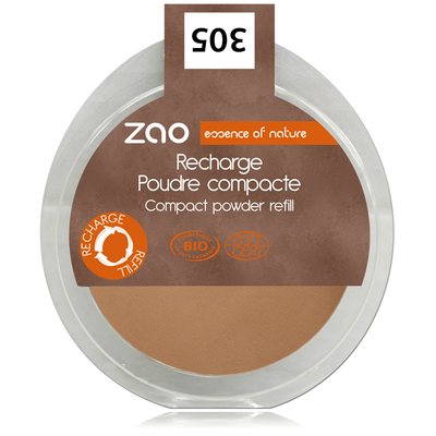 ZAO MAKE UP - Poudre Compacte - 305 CHOCOLAT AU LAIT Recharge