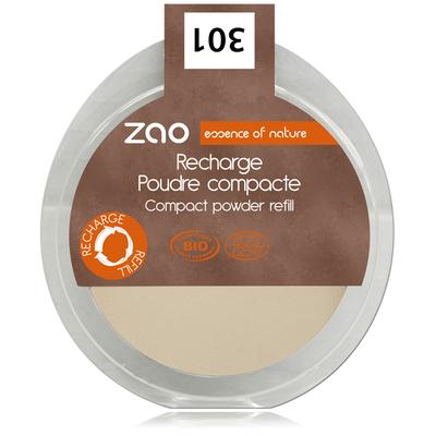 ZAO MAKE UP - Poudre Compacte - 301 IVOIRE Recharge