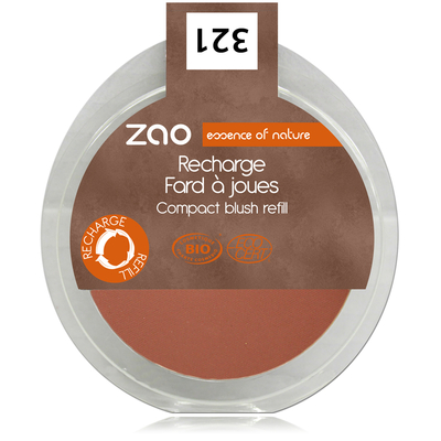 ZAO MAKE UP - Fard à joues - 321 BRUN ORANGE Recharge