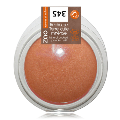 ZAO MAKE UP - Terre Cuite Minérale - 345 CUIVRE ROUGE Recharge