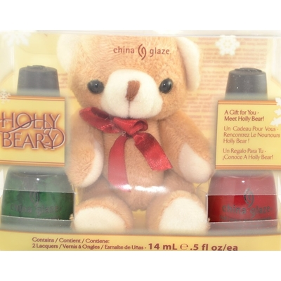 CHINA GLAZE - Vernis à Ongles Collection Let It Snow - KIT 2 VERNIS HOLLY BEAR-Y