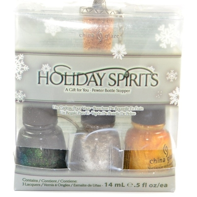 CHINA GLAZE - Vernis à Ongles Collec Let It Snow - KIT 3 VERNIS HOLIDAY SPIRITS