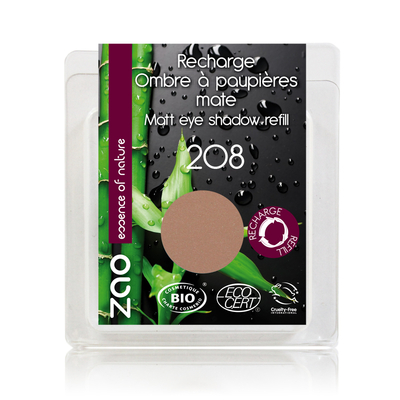 ZAO MAKE UP - Fard à Paupières Mat - 208 NUDE Recharge