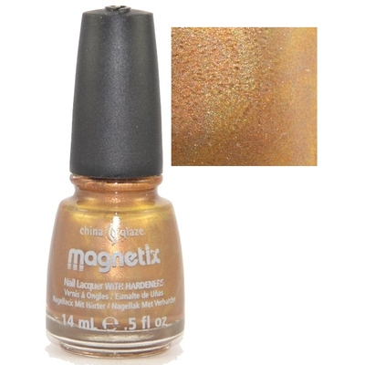 CHINA GLAZE - Vernis Ongles Magnétique Collection Magnetix 2 - GOLD FUSION