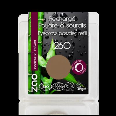 ZAO MAKE UP - Poudre à Sourcils - 260 SOURCIL BLOND Recharge