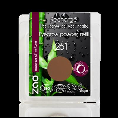 ZAO MAKE UP - Poudre à Sourcils - 261 SOURCIL BLOND CENDRE Recharge