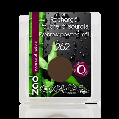 ZAO MAKE UP - Poudre à Sourcils - 262 SOURCIL BRUN Recharge