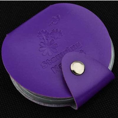Pochette de rangement Plaques Stamping  - Ronde - 24 emplacements - VIOLETTE