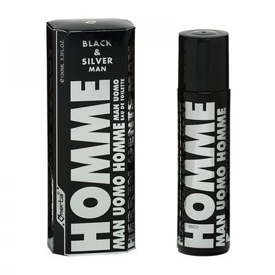 OMERTA - Eau de Toilette pour Hommes - BLACK & SILVER MAN 100 ml