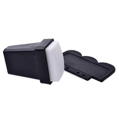 TAMPON STAMPING RECTANGULAIRE + RACLETTE - Blanc
