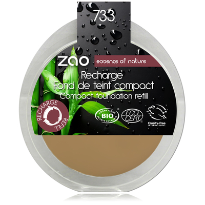 ZAO MAKE UP - Fond de Teint Compact - 733 NEUTRE Recharge