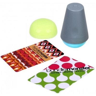 "BUNDLE MONSTER - Tampon Silicone "" Domed Semi Squishy "" 2 têtes + 2 Cartes"