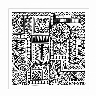 BUNDLE MONSTER - Plaque de Stamping Shangri-La - S110 VIBRATIONAL BREATHE