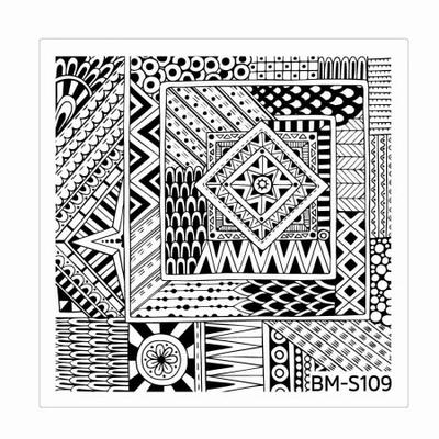 BUNDLE MONSTER - Plaque de Stamping Shangri-La - S109 GEOMETRIC HARMONY