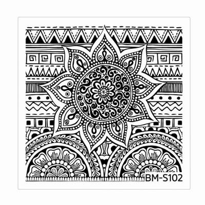 BUNDLE MONSTER - Plaque de Stamping Shangri-La - S102 EVERLASTING SUN