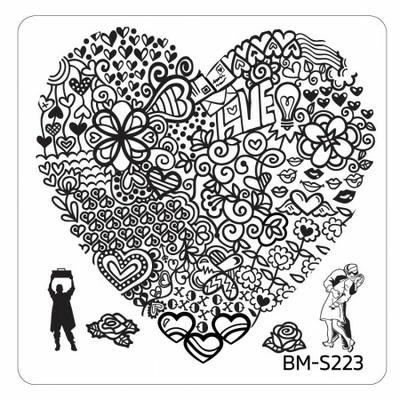 BUNDLE MONSTER - Plaque de Stamping Valentine's Day - S223 HEART'S BUFFET