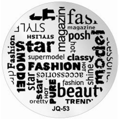 Nail Art - Plaque de Stamping - Collection JQ - 53