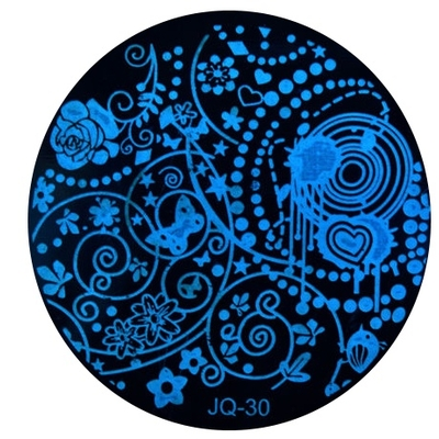 Nail Art - Plaque de Stamping - Collection JQ - 30