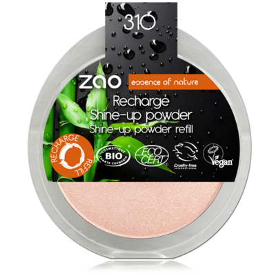 ZAO MAKE UP - Shine Up Powder - 310 CHAMPAGNE ROSE Recharge