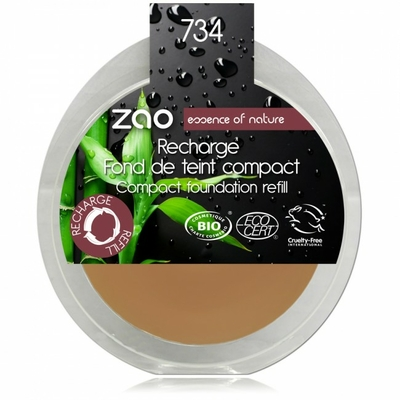 ZAO MAKE UP - Fond de Teint Compact - 734 CAPUCCINO Recharge