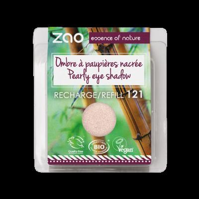 ZAO MAKE UP - Fard à Paupières Nacré - 121 IVOIRE LUMIERE recharge