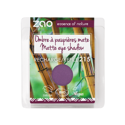 ZAO MAKE UP - Fard à Paupières Mat - 215 VIOLET POURPRE recharge