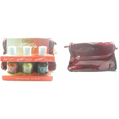 ORLY - Vernis Ongles Collection Fired Up - COFFRET 3 VERNIS + POCHETTE A COSMETIQUES OFFERTE