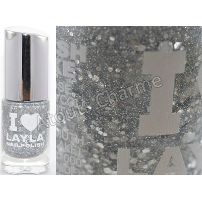 LAYLA - Vernis à Ongles Collection I Love Layla - 14 GLITTY SILVER