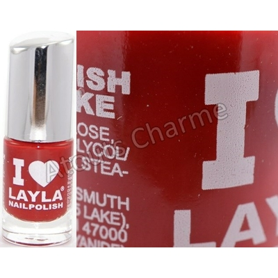 LAYLA - Vernis à Ongles Collection I Love Layla - 23 REDDY RED