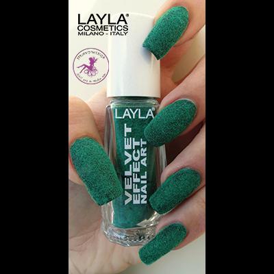 LAYLA - Nail Art Velvet Effect / Poudre de Velour - 06 GREEN LAWN