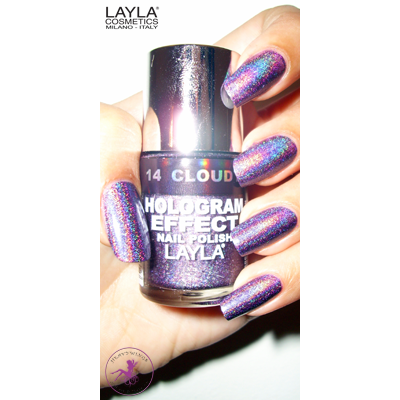 LAYLA - Vernis Ongles Collection Hologram Effect - 14 CLOUDY VIOLET