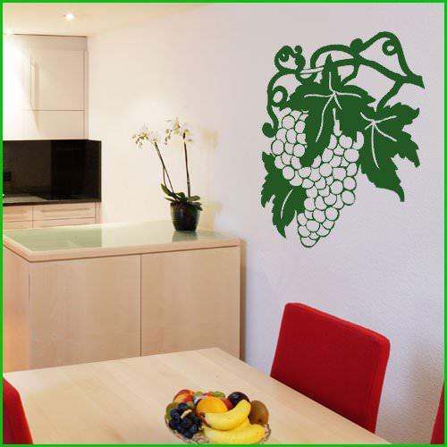 Stickers grappe de raisin 022 deco cuisine destock for Destock cuisine