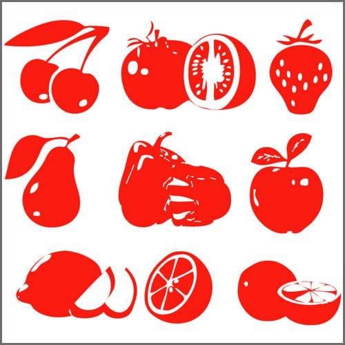 Stickers cuisine 9 fruits et l gumes deco cuisine for Destock cuisine