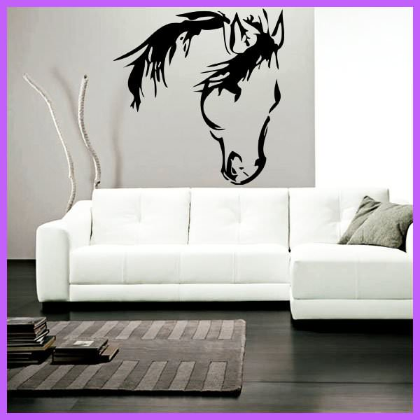 t te de cheval camarguais animaux chevaux destock stickers. Black Bedroom Furniture Sets. Home Design Ideas