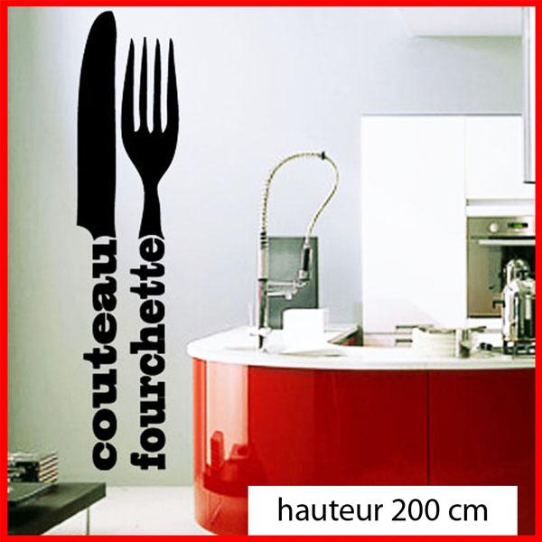 Sticker d co cuisine couverts en lettrage deco cuisine for Destock cuisine