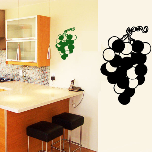 stickers grappe de raisin deco cuisine destock stickers. Black Bedroom Furniture Sets. Home Design Ideas