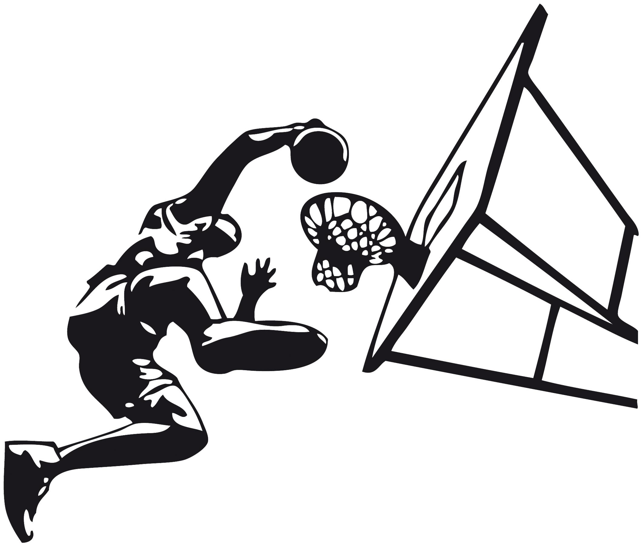 stickers basketteur et panier - Sport/autres - Destock ...