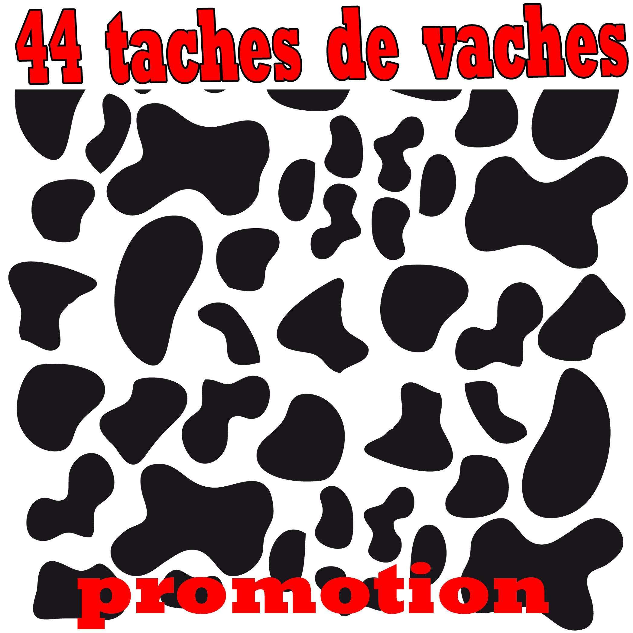 Stickers d co 44 taches de vaches pi ces de la maison - La maison du stickers ...