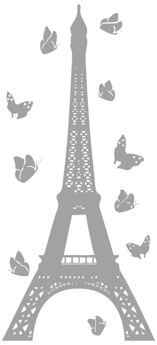 stickers tour eiffel toiles ou papillons historique monuments destock stickers. Black Bedroom Furniture Sets. Home Design Ideas
