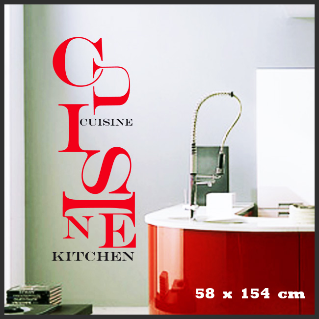 Stickers d co cuisine lettres emm l es deco cuisine for Sticker mural cuisine