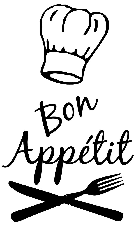 Stickers déco cuisine Bon appétit toque chef - DECO CUISINE