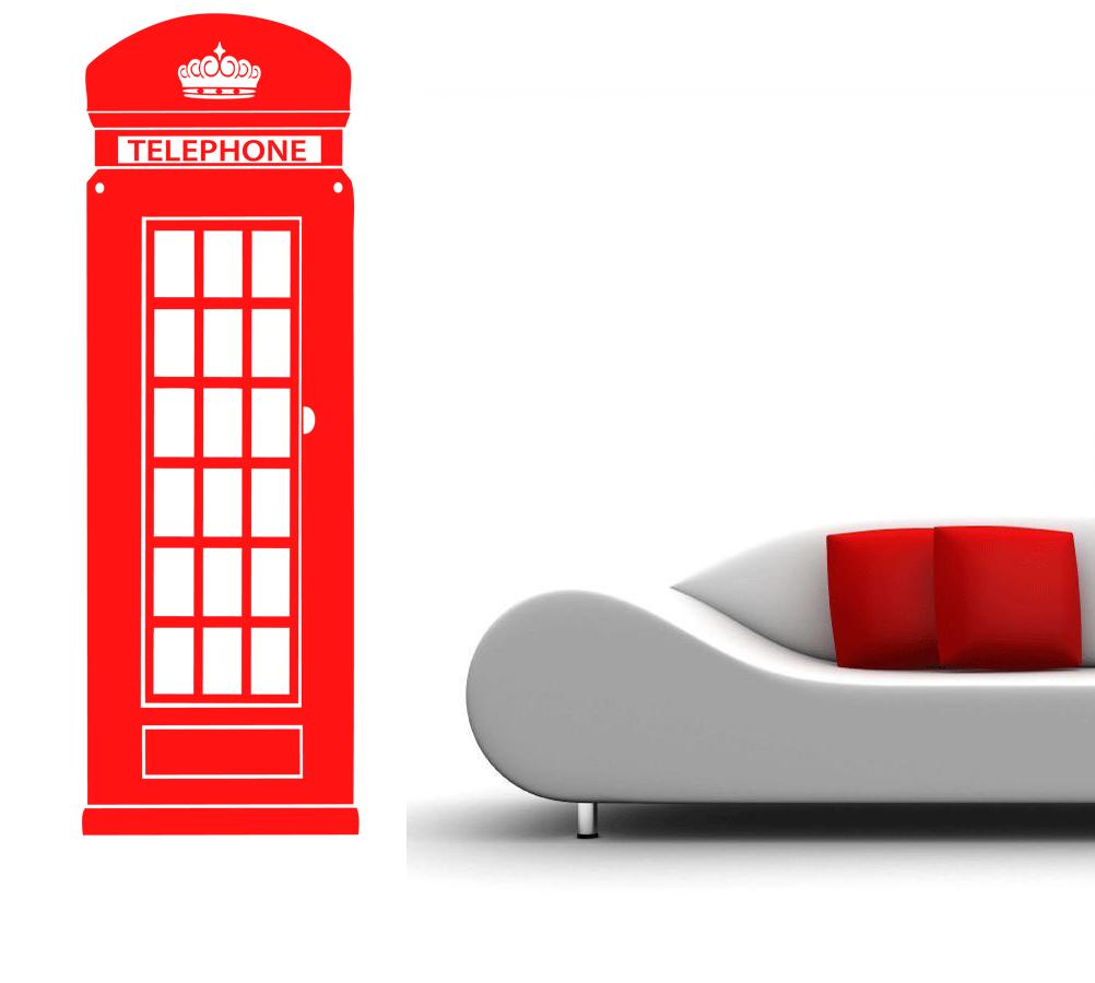 Stickers cabine t l phone anglaise d co de la maison for Cabine telephonique anglaise deco