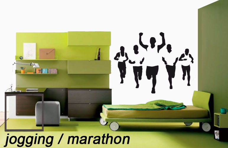 stickers jogging marathon course pied sport course destock stickers. Black Bedroom Furniture Sets. Home Design Ideas