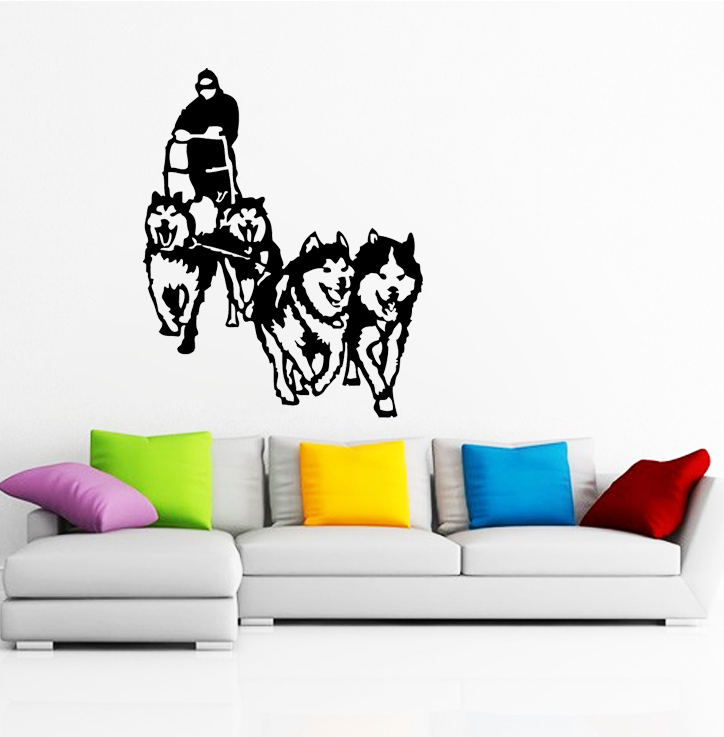 sticker chiens de traineau husky animaux chien destock stickers. Black Bedroom Furniture Sets. Home Design Ideas