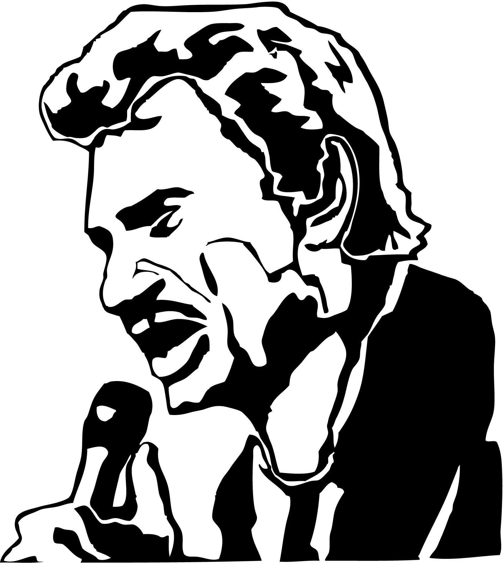Stickers Johnny Hallyday Au Micro Musique Chanteurs Groupes Etc