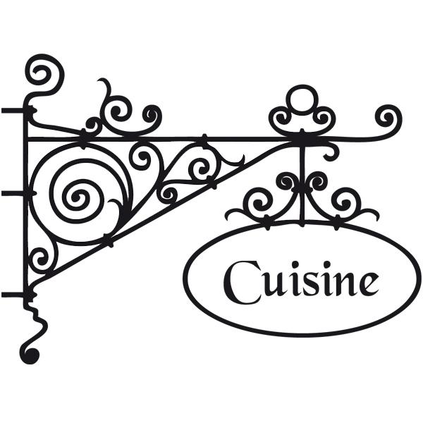 sticker enseigne cuisine deco cuisine destock stickers. Black Bedroom Furniture Sets. Home Design Ideas