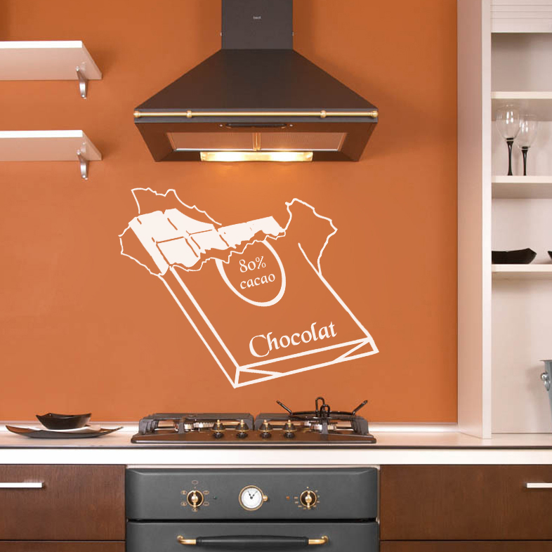 elegant stickers dco cuisine plaque de chocolat with plaque deco cuisine. Black Bedroom Furniture Sets. Home Design Ideas