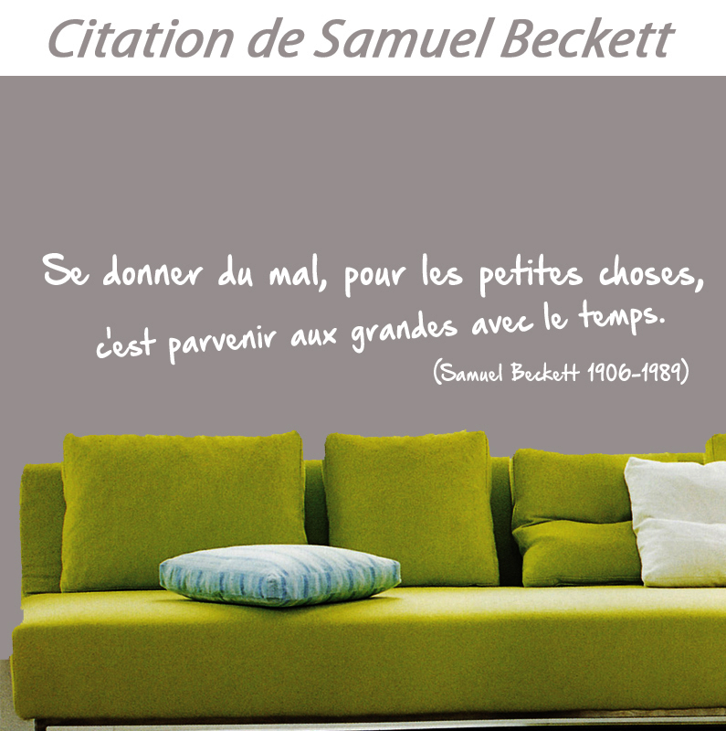 stickers citation de samuel beckett d co de la maison destock stickers. Black Bedroom Furniture Sets. Home Design Ideas