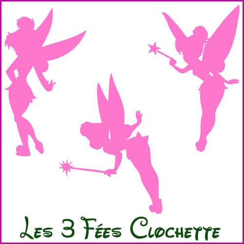 Stickers lot 3 Fées Clochette - Les Enfants - Destock-Stickers 1c9226037ff7